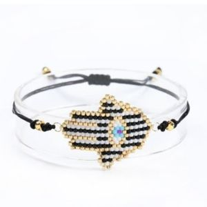 Jewelry - Evil eye and palm miyuki bead bracelet
